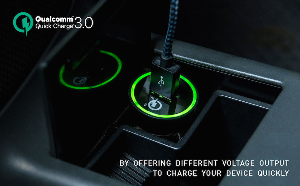 CHANNEL WELL 單孔 QC 3.0 快速車充 (充電速度提升80%) - QC3.0 Car charger 970 600 01