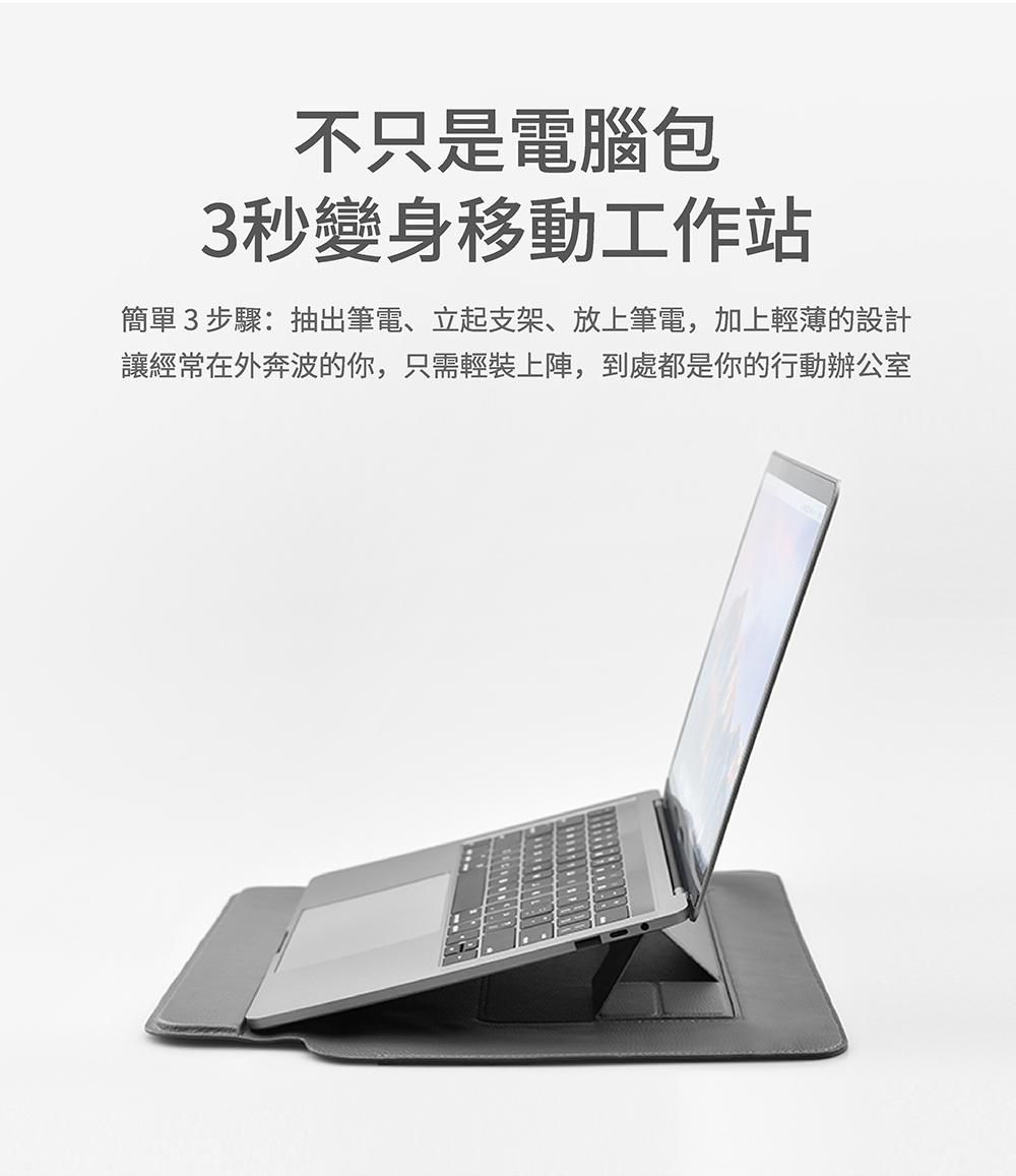 【SINEX】全球首款 3 合 1 變形筆電包 適用13/14吋筆電 (收納包+筆電架+鍵盤手托) - SINEX電腦包簡介 03