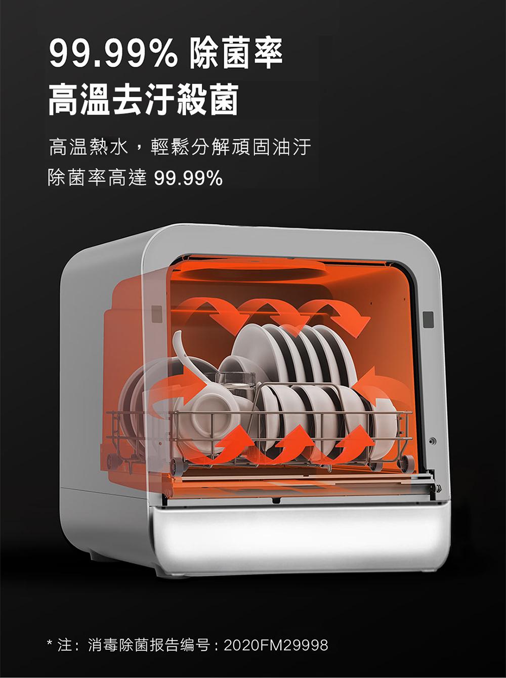 【早鳥優惠】VIOMI 雲米互聯網免安裝洗烘碗機(VDW0401) - 10