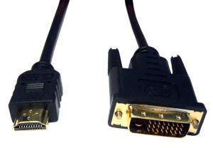 2.5m Gold HDMI A-Male DVI D Male