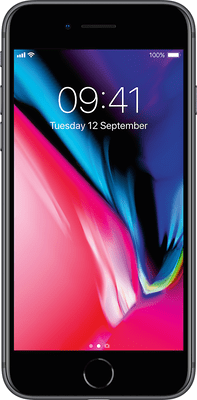 Apple iPhone 8 (64GB Space Grey Used Grade A) at £9.00 on Unlimited Max (24 Month(s) contract) with UNLIMITED mins; UNLIMITED texts; UNLIMITEDMB of 5G data. £55.00 a month.