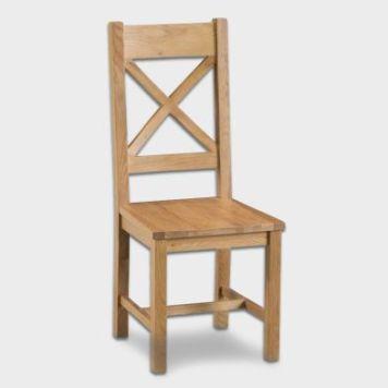 Cotswold Cross Back Dining Chair Oak