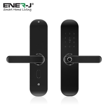 Ener-J WiFi Smart Door Lock Right Handle (Black, silver) - Black