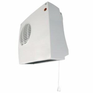 Eterna 2kW Electric Wall Mounted Downflow Fan Heater With Pull Cord & Thermostat