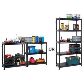 Garland 5 Shelf Self Assembly Plastic Shelving Unit