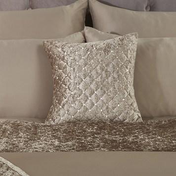 Glamour Velvet Sequin Cushion Cover (Pair)