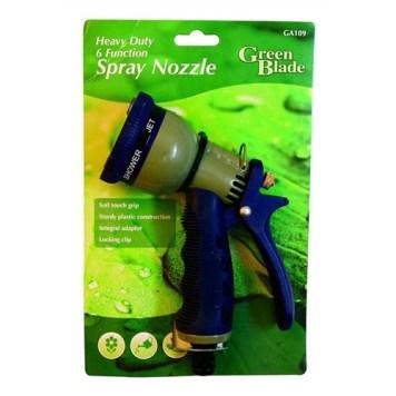 Green Blade Plastic Heavy Duty 6-Function Spray Nozzle Gun