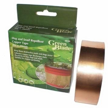 Green Blade Slug Repellent Adhesive Copper Tape - 4m x 30mm
