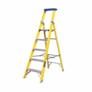 Greenbrook Fiberglass Aluminium Electricians Extension Step Ladder With Platform - 9 Step