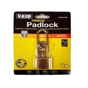 Kasp 70mm Long Shackle Brass Padlock