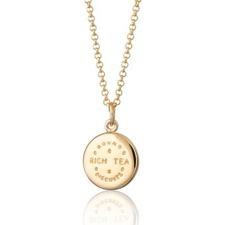 Lily Charmed Gold-Plated Rich Tea Necklace