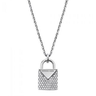 Michael Kors Colour Jewelled Padlock Pendant Necklace