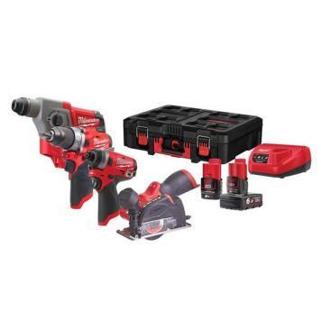 Milwaukee Power Tools M12 FPP4A PACKOUT™ Kit 12V 1 x 2.0Ah & 1 x 6.0Ah Li-ion