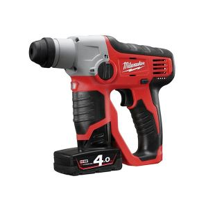 Milwaukee Power Tools M12 H-0 Compact Cordless SDS 2 Mode Hammer 12V Bare Unit