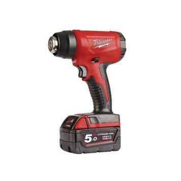 Milwaukee Power Tools M18 BHG-502 Cordless Heat Gun 18V 2 x 5.0Ah Li-ion