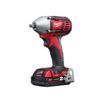 Milwaukee Power Tools M18 BIW38-202C Compact 3/8in Impact Wrench 18V 2 x 2.0Ah Li-ion