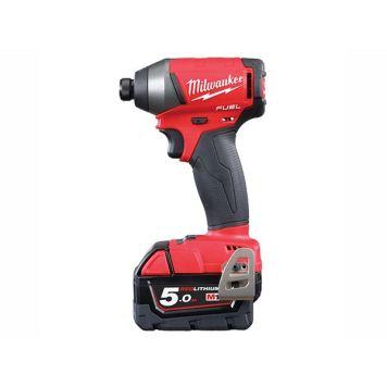 Milwaukee Power Tools M18 FID-502X Fuel� Impact Driver 18V 2 x 5.0Ah Li-Ion