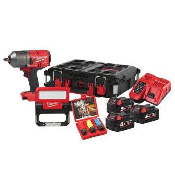 Milwaukee Power Tools M18 FPP2AH PACKOUT™ Kit 18V 3 x 5.0Ah Li-ion