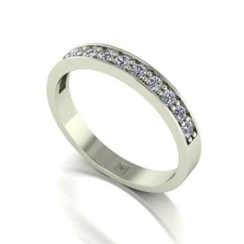 Moissanite 9ct Gold 0.33ct eq Lady Lynsey Half Eternity Ring
