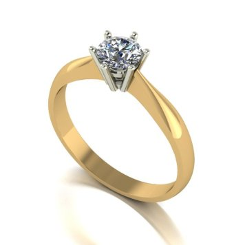 Moissanite 9ct Gold 0.50ct eq Finesse Solitaire Ring