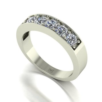 Moissanite 9ct Gold 1.00ct eq Lady Lynsey 5 Stone Ring