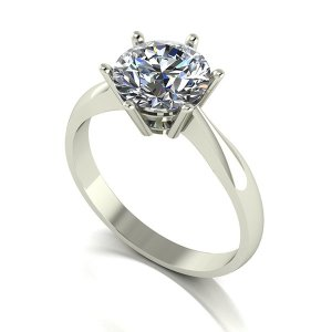 Moissanite 9ct Gold 2.00ct eq Finesse Solitaire Ring
