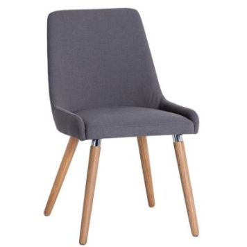 Necton Dining Chair Grey Retro Style