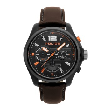 Police Gent's Denver Watch with Genuine Leather Strap
