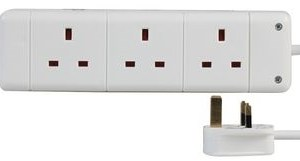 Pro-Elec 3G 5m White Extension Lead