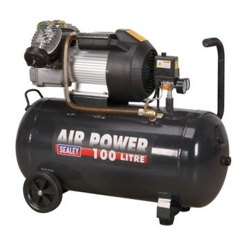 Sealey 100L V-Twin Direct Drive 3hp Compressor (SAC10030VE)