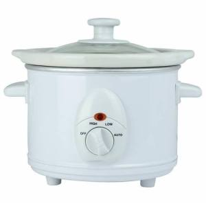 Status 1.5 Litre Round Slow Cooker - White