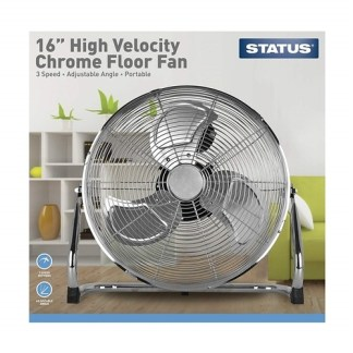 """Status 16"""" Chrome Floor Fan"""