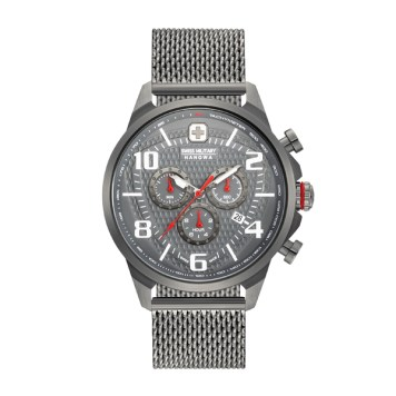 Swiss Military by Hanowa Gent's Airman Chrono IP Plated Watch with Milanese Bracelet
