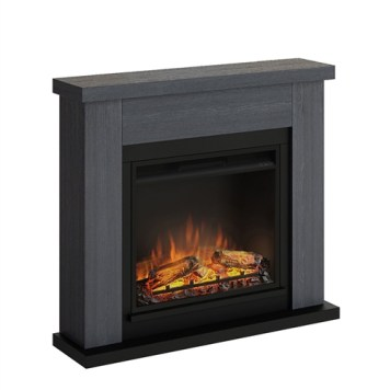 Tagu Frode Electric Fireplace - Ash Grey Complete Suite EU Plug