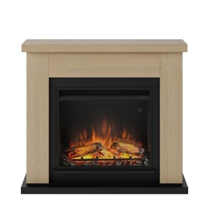 Tagu Frode Electric Fireplace - Natural Oak Complete Suite UK Plug