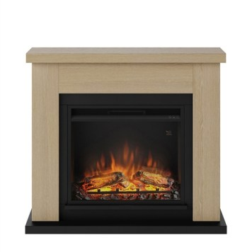 Tagu Frode Electric Fireplace - Natural Oak Complete Suite UK Plug