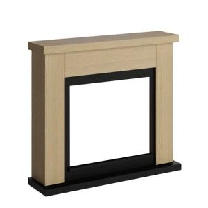 Tagu Frode Electric Fireplace - Natural Oak Mantel Only No Plug
