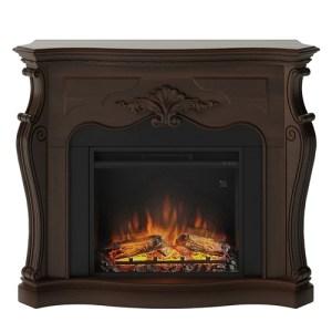Tagu Gala Electric Fireplace - Royal Walnut Complete Suite EU Plug