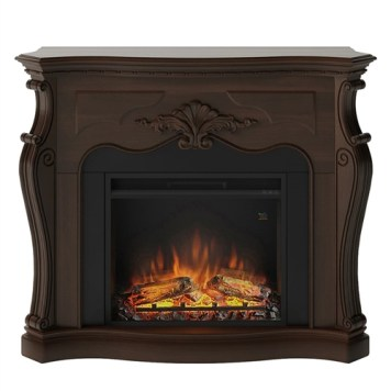 Tagu Gala Electric Fireplace - Royal Walnut Complete Suite EU Plug