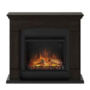 Tagu Helmi Electric Fireplace - Espresso Wenge Complete Suite EU Plu