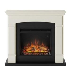 Tagu Helmi Electric Fireplace - Soft Cream Complete Suite UK Plug