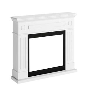 Tagu Larsen Electric Fireplace - Pure White Mantel Only No Plug