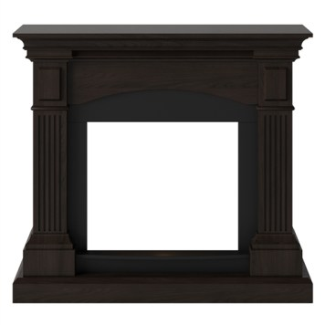 Tagu Magna Electric Fireplace - Espresso Wenge Mantel Only No Plug