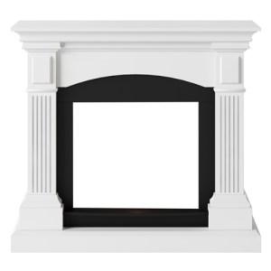Tagu Magna Electric Fireplace - Pure White Mantel Only No Plug