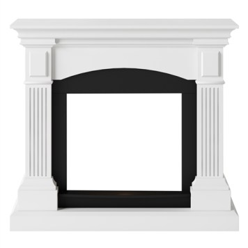 Tagu Magna Electric Fireplace - Pure White Mantel Only No Plug