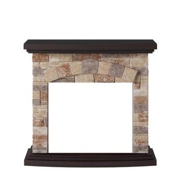 Tagu Tori Electric Fireplace - Stone Cream Mantel Only No Plug