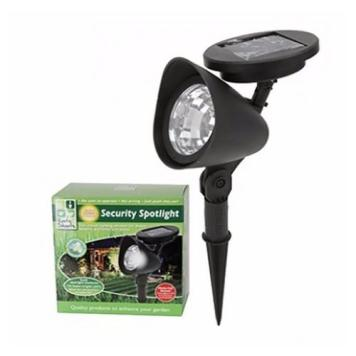 Zexum 3 LED Solar Powered Wireless Garden Pathway Security Spot Light