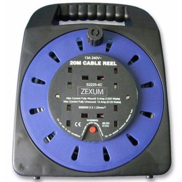Zexum 4G Handbag Socket Extension Reel - 15m
