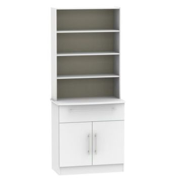 Colby Sideboard White 2 Door 4 Shelf 1 Drawer