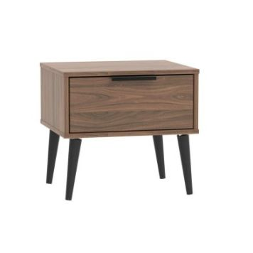 Drayton Bedside Brown 1 Drawer Walnut Style